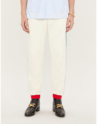 Gucci Side-stripe cotton jogging bottoms