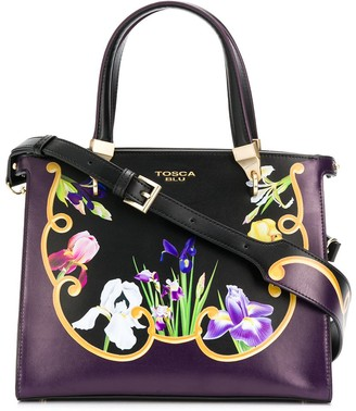 Tosca Iris floral tote
