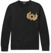 Alexander McQueen Slim-Fit Beaded Loopback Cotton-Jersey Sweatshirt