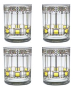 Culver Frank Lloyd Wright Tree of Life Double Old Fashioned Glass - Set of 4
