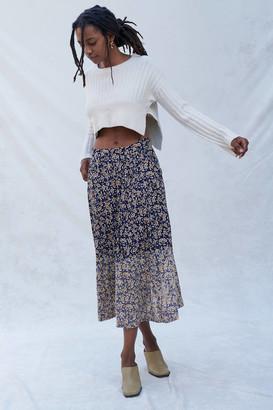 Urban Renewal Vintage Recycled Bleach Bottom Skirt