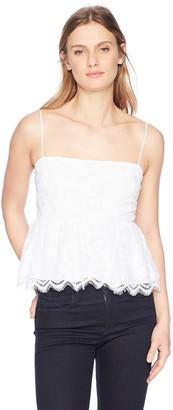 GUESS Women's Sleeveless Francine Peplum Top