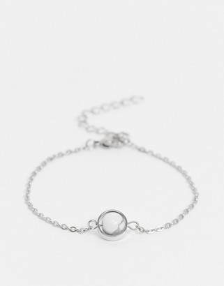 Aura by Calum Best white howlite crystal bracelet