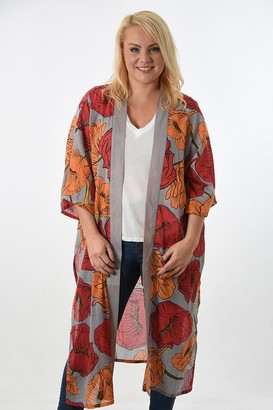Rose Hill Boutique - Long Fuchsia and Orange Kimono