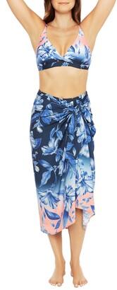 La Blanca Ombre Print Cover-Up Wrap Skirt