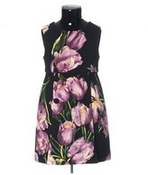 Dolce & Gabbana Purple Tulip Print Dress (Toddler Girls, Little Girls & Big Girls)