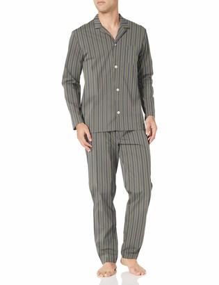 Hanro Men's Night & Day Woven Long Sleeve Pajama Set