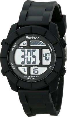 Armitron Sport Unisex 45/7043BLK Digital Watch With Black Resin Band