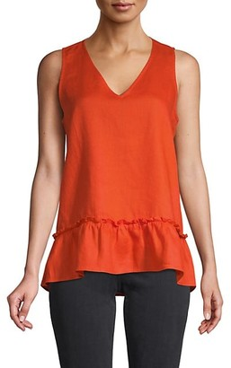 Saks Fifth Avenue Ruffle-Hem Top