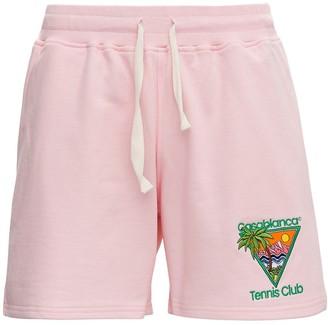 Casablanca Tennis Club Icon Shorts in Pink Jersey