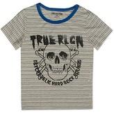 True Religion Boys' Broken Stripe Skull Tee - Sizes S-XL