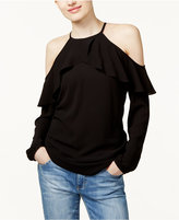 MICHAEL Michael Kors Flounce Cold-Shoulder Top, A Macy's Exclusive Style