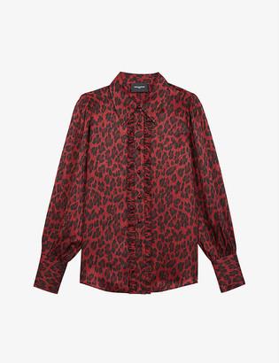 The Kooples Leopard-print silk-blend blouse