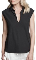 James Perse Women's Cap Sleeve Polo Top