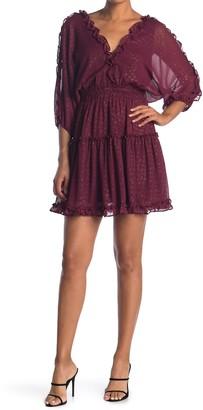 Love Stitch Tiered Ruffle Leopard Dress