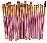 Iuhan 20pcs/set Makeup Brush Set tools Make-up Toiletry Kit Wool Make Up Brush Set (Gold)