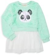 Pippa Btween Little Girl's Sequined Faux Fur Tutu Dress
