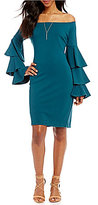 Gianni Bini Fan Fav Tinsley Tiered Ruffle Sleeve Off The Shoulder Dress