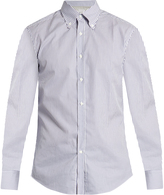 Brunello Cucinelli Button-cuff cotton-poplin shirt