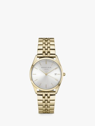ROSEFIELD The Ace Sunray Date Mesh Strap Watch, Gold ACSG-A03