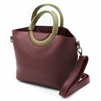 MISEMIYA Women's SR-J498 Shoulder Bag Red Red (Granate 000)