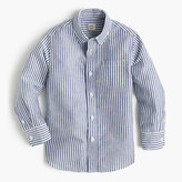 J.Crew Kids' linen-cotton striped shirt