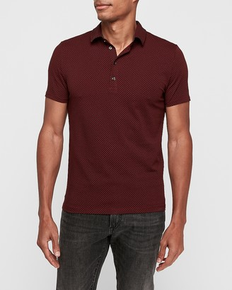 Express Circle Print Performance Polo