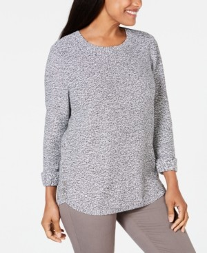Karen Scott Cotton Marled Sweater, Created for Macy's