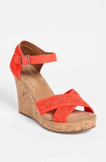 Toms Crochet Wedge Sandal