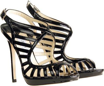 Jimmy Choo Keenan Patent Leather Sandals