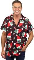 Oh! O.H. Funky Hawaiian Shirt, Christmas Hats, darkgreen, XL