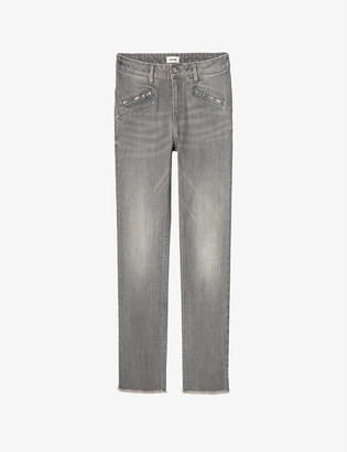 Zadig & Voltaire Ava faded stretch-denim jeans