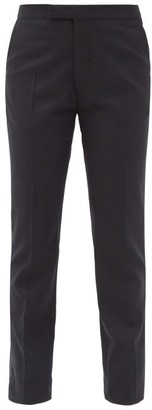 Raf Simons Side-stripe Wool-blend Twill Straight-leg Trousers - Black