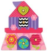 Stephen Joseph Princess Shaped Wooden Peg Puzzle in Pink