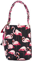 RED Valentino flamingos print shopping bag - women - Polyester - One Size