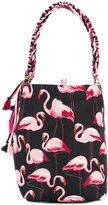 RED Valentino flamingos print shopping bag