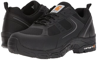 Carhartt Lightweight Low Work Hiker Boot Steel Toe (Black Nylon Mesh) Men's Work Lace-up Boots