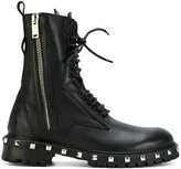 Les Hommes combat boots with studs