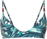 Stella McCartney marbled swirl bikini top