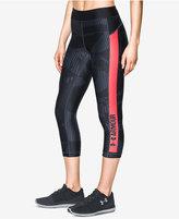 Under Armour HeatGear® Printed Capri Compression Leggings