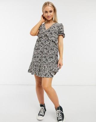 Miss Selfridge mini tea dress in animal print