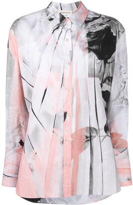 Alexander McQueen Trompe-l'il print shirt