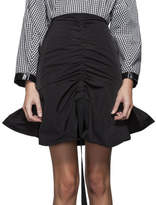 Ellery Amaretto Ruched Skirt