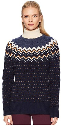 Fjallraven Ovik Knit Sweater (Dark Navy) Women's Sweater