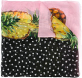 Dolce & Gabbana pineapple print scarf - women - Silk - One Size