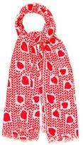 Stella McCartney Heart Print Scarf w/ Tags
