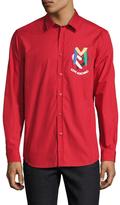 Love Moschino Cotton Spread Collar Sportshirt
