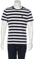 Burberry Embroidered Striped T-Shirt