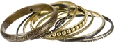 Gold & Black Bangle Set