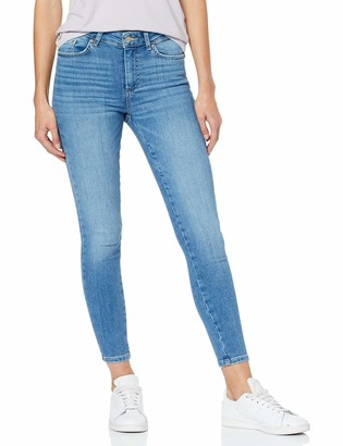 Pieces Women's Pcdelly Skn Mw Cr Lb124-ba/noos Skinny Jeans